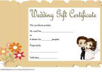 Wedding Gift Certificate Template 6