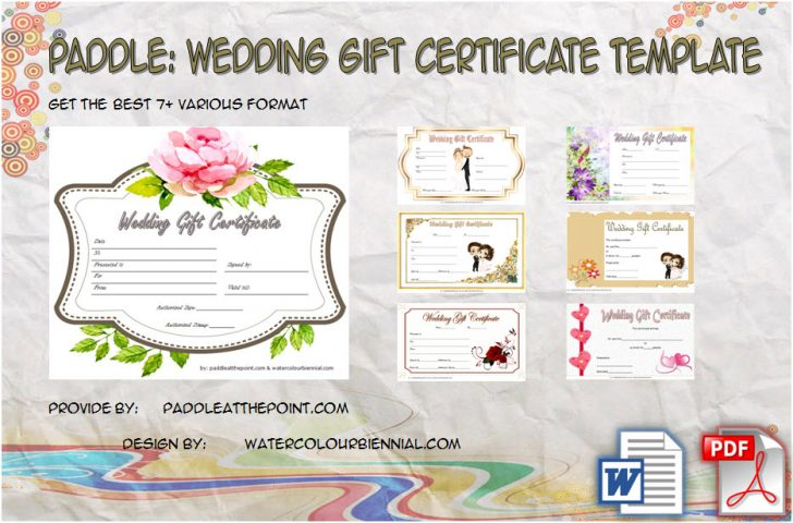 Permalink to Free Editable Wedding Gift Certificate – 7+ Template Ideas