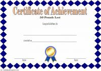 Weight Loss Certificate Template 3