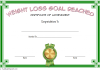 Weight Loss Certificate Template 4