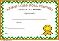 Weight Loss Certificate Template 5
