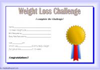 Weight Loss Certificate Template 7