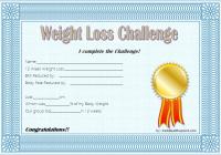 Weight Loss Certificate Template 8