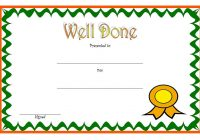 Well Done Certificate Template 1