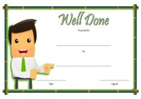 Well Done Certificate Template 2