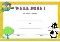 Well Done Certificate Template 4