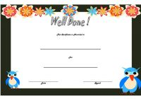 Well Done Certificate Template 5