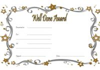 Well Done Certificate Template 7