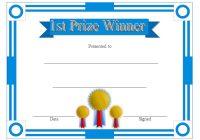 Winner Certificate Template 1
