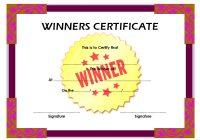 Winner Certificate Template 4
