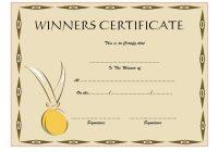 Winner Certificate Template 6