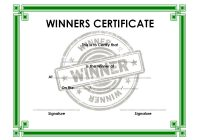 Winner Certificate Template 7