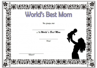 Worlds Best Mom Certificate Template FREE 2