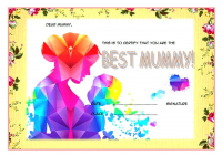 Worlds Best Mom Certificate Template FREE 5