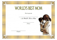 Worlds Best Mom Certificate Template FREE 9