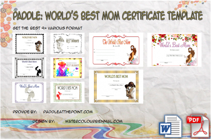 Permalink to World's Best Mom Certificate Printable: 9+ Meaningful Ideas