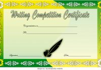 Writing Competition Certificate Template 3