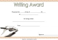Writing Competition Certificate Template 4