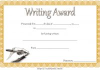 Writing Competition Certificate Template 5