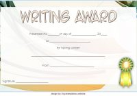 Writing Competition Certificate Template 6