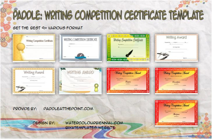 Permalink to Writing Competition Certificate Templates (2020 Best Ideas)